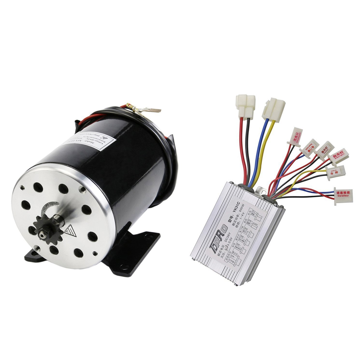 TDPRO JCMOTO 36v 800w Brushed Speed Motor and Controller Set for Electric Scooter Go Kart Bicycle e Bike Tricycle Moped by TDPRO