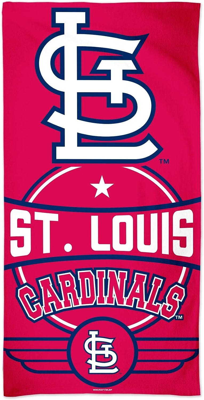 WinCraft MLB St. Louis Cardinals MLB St. Louis Cardinals Fiber Beach Towel 9lb 30