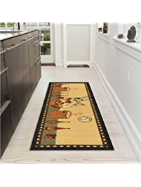 Ottomanson Siesta Collection Kitchen Chef Design  (Machine Washable/Non Slip) Runner
