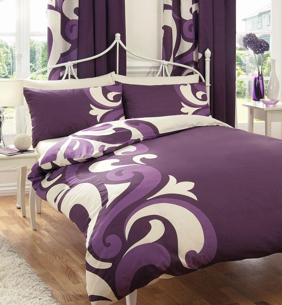 SUPER KING SIZE DUVET SET WITH MATCHING CURTAINS 66 X 72 SHEET BERRY CREAM Amazoncouk Kitchen Home
