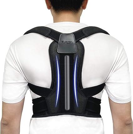 Improve Posture /& Provides Lumbar Support Discreet Back Brace for Upper Back Pain Relief Back Brace Posture Corrector Back Support Belt with Adjustable Back Straightener Fit for Men /& Women