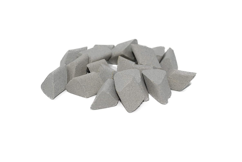 Walther Trowal F 15X15 Angle Cut Medium Cut Ceramic Tumbling Rocks Triangle Shape 55 lb Bag