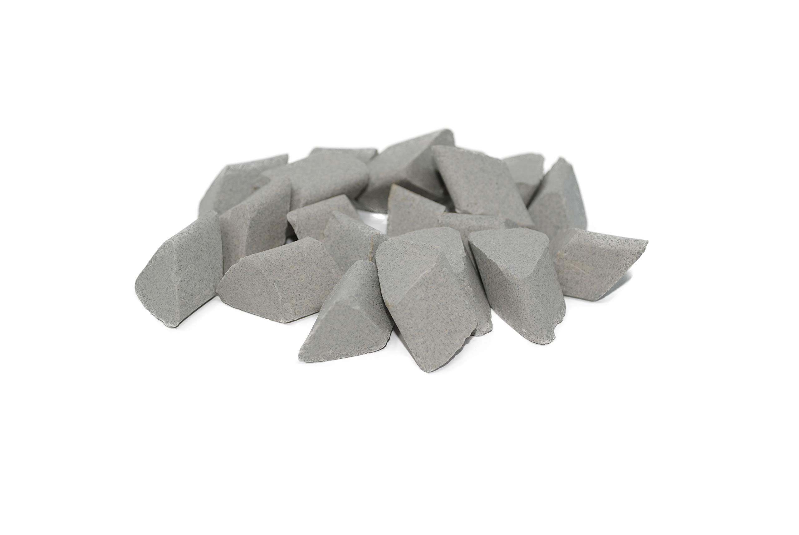 Walther Trowal F 15X15 Angle Cut, Triangle Shape, Ceramic Tumbling Rocks, 55 lb Bag, Medium Cut