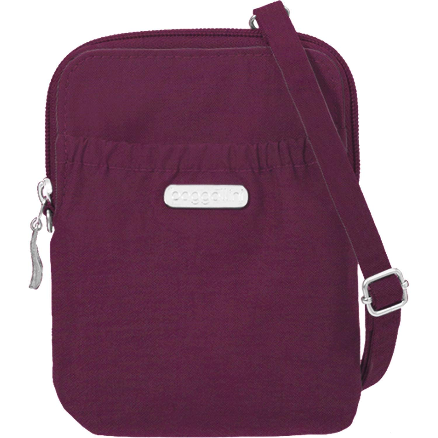 Baggallini Rfid Bryant Pouch, Eggplant, One Size