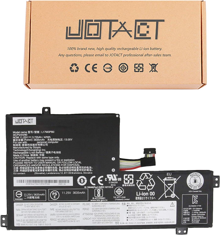 JOTACT L17M3PB0 Laptop Battery Compatible with Lenovo Chromebook C340-11 S340-14 Touch 100E 300E 500E Chromebook Ideapad Flex 3 CB-11IGL05 Series Notebook L17L3PB0 11.25V 42Wh/3735mAh 3 Cell(Shape-A)