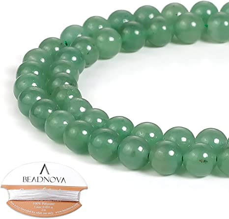 Aventurine Round Beads 6mm Green 10 Pcs Gemstones DIY Jewellery Making Crafts