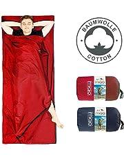 MIQIO 2 en 1 Saco de Dormir de algodón y Ligero tamaño XL Doble Cama de