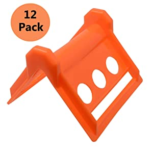 12 Pack Tie Down Strap Protectors - Flatbed Strap Corner Protectors - Corners Guard The Cargo and Straps from Damage or Wear in Shipping - Vee Boards - Load Protectors - Pallet Edge Protector