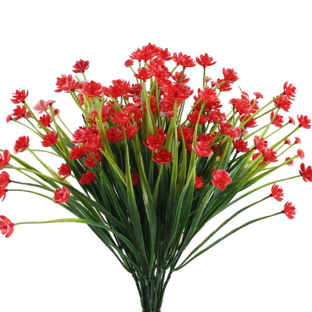 Mihounion fiori finti da esterno cespuglio artificiali arbusti piante finte ebay - Fiori da esterno primaverili ...
