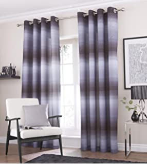 Curtains Ideas charcoal and cream curtains : Jacquard Curtain 90 x 90 TWO TONE / DOUBLE SHADE Eyelet Ring Top ...