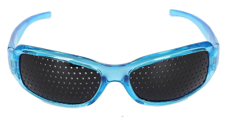 463fe0fadbd51 HealthPanion 1 Ensemble de Lunettes de Repos à Sténopé - (bleu)(AH Blue  Pinhole Glass) - Lunettes à Grille - Lunettes à Grilles - Lunettes à Grille  Optique ...