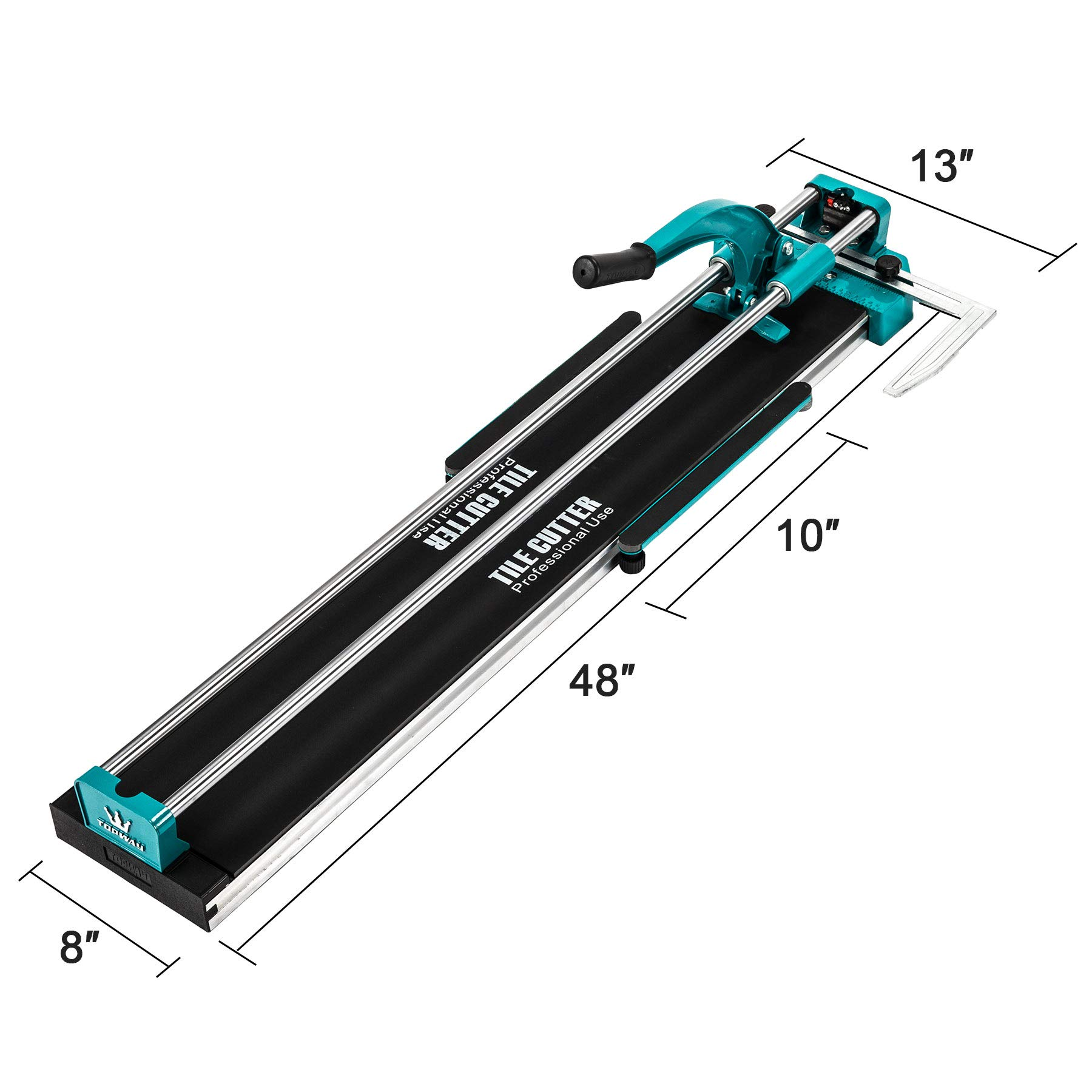 CO-Z Manual Tile Cutter 40'' Cutting Length Professional Porcelain Ceramic Floor Tile Cutter Machine Adjustable Laser Guide for Precision Cutting (40 inch) by CO-Z (Image #3)