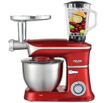 Perfekt DMS 3 In 1 Küchenmaschine Rührmaschine 6,5 Liter Knetmaschine  Edelstahlschüssel Spritzschutz StandMixer Ice Crusher