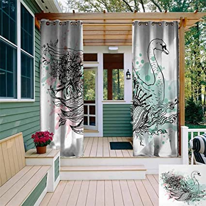 Amazon.com: TT.HOME - Cortina opaca para exteriores, diseño ...