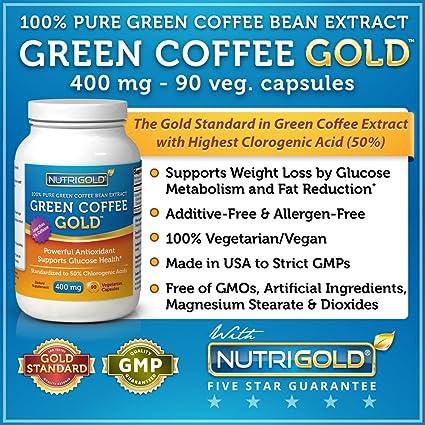 Amazon Com 100 Pure Green Coffee Bean Extract 400 Mg 90 Veg