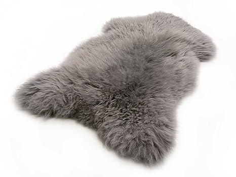 66efdf5b9825f5 Amazon.de  Lammfell Schaffell grau echtes Fell ökologisch gegerbt vom  deutschen Fachhändler