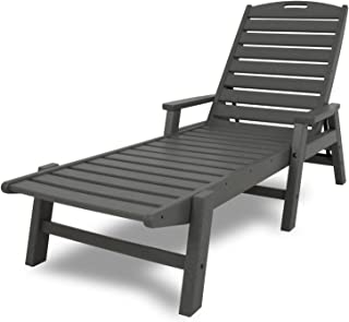 product image for POLYWOOD NCC2280GY Nautical Arms Chaise, Slate Grey