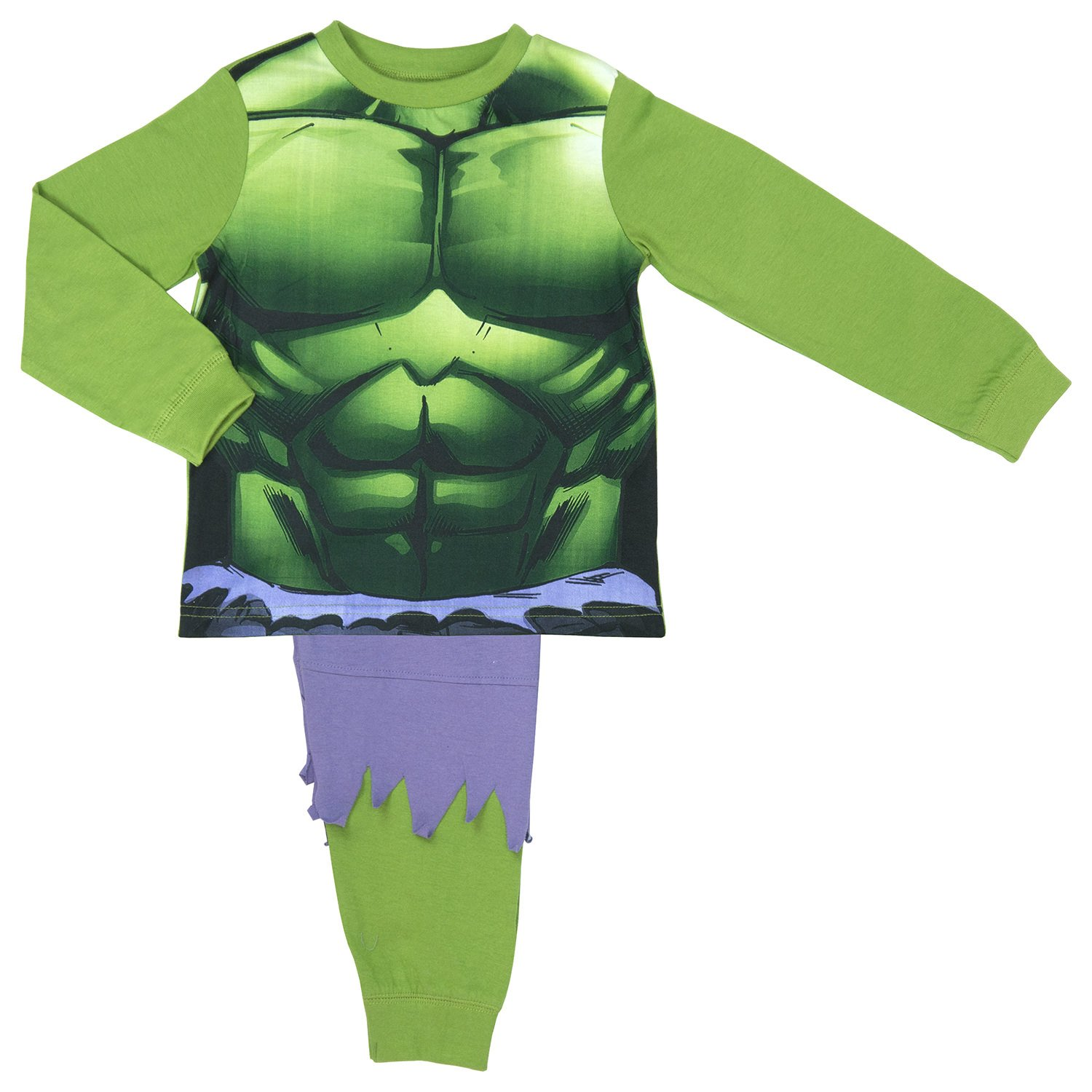 The Incredible Hulk Boys Pyjamas with ripped trouser detailing - ages 2 to 8 yea