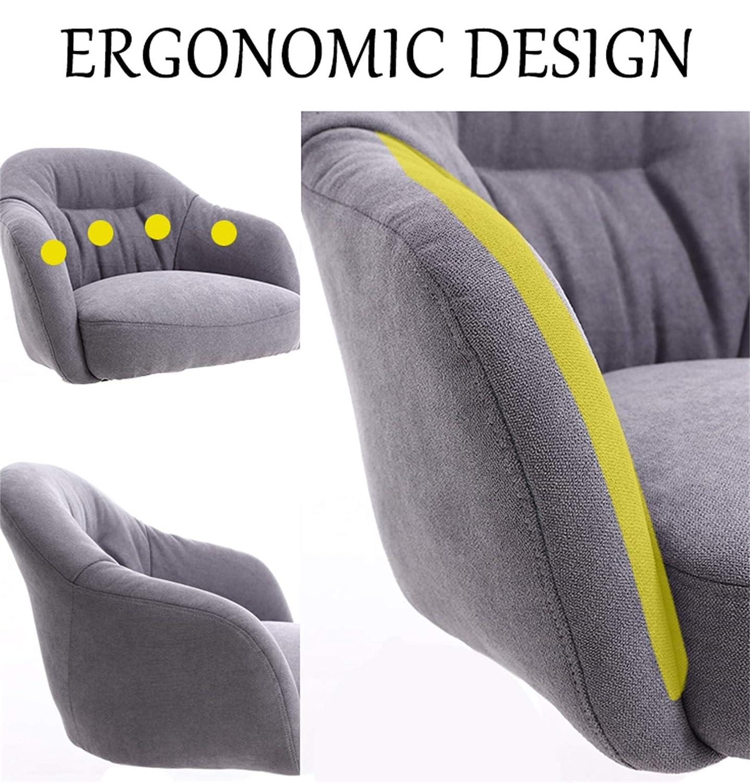 LYJBD hemmakontorsstol, bekväm tjock kudde kudde flexibel justerbar mittrygg uppgift stol för kvinnor hemma, män Brun