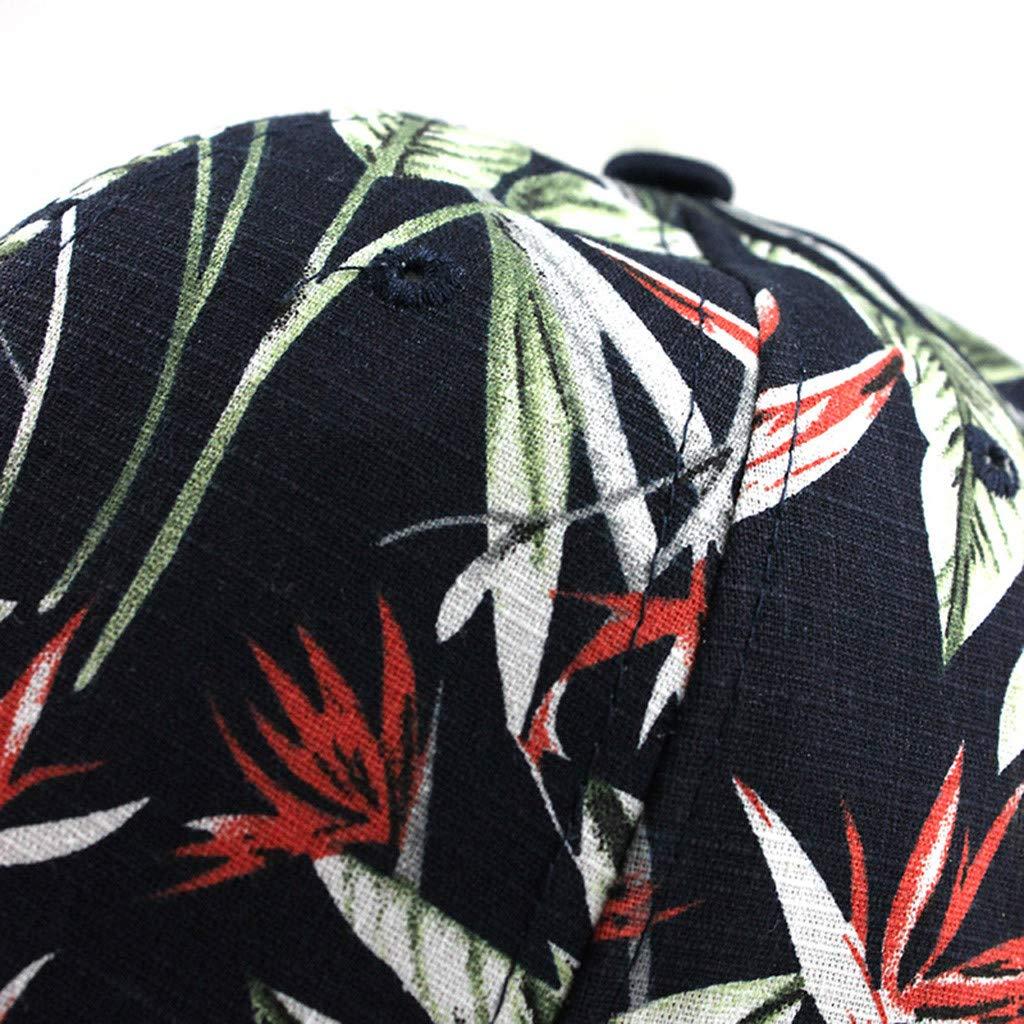 Syeytx Unisex Mode Baumwolle Sonnenhut gewaschen Leinwand Visier gedruckt Outdoor Cap einstellbar