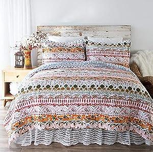 North End Decor Boho Limerick Quilt, Twin 2-Piece Bedding Sets, 68
