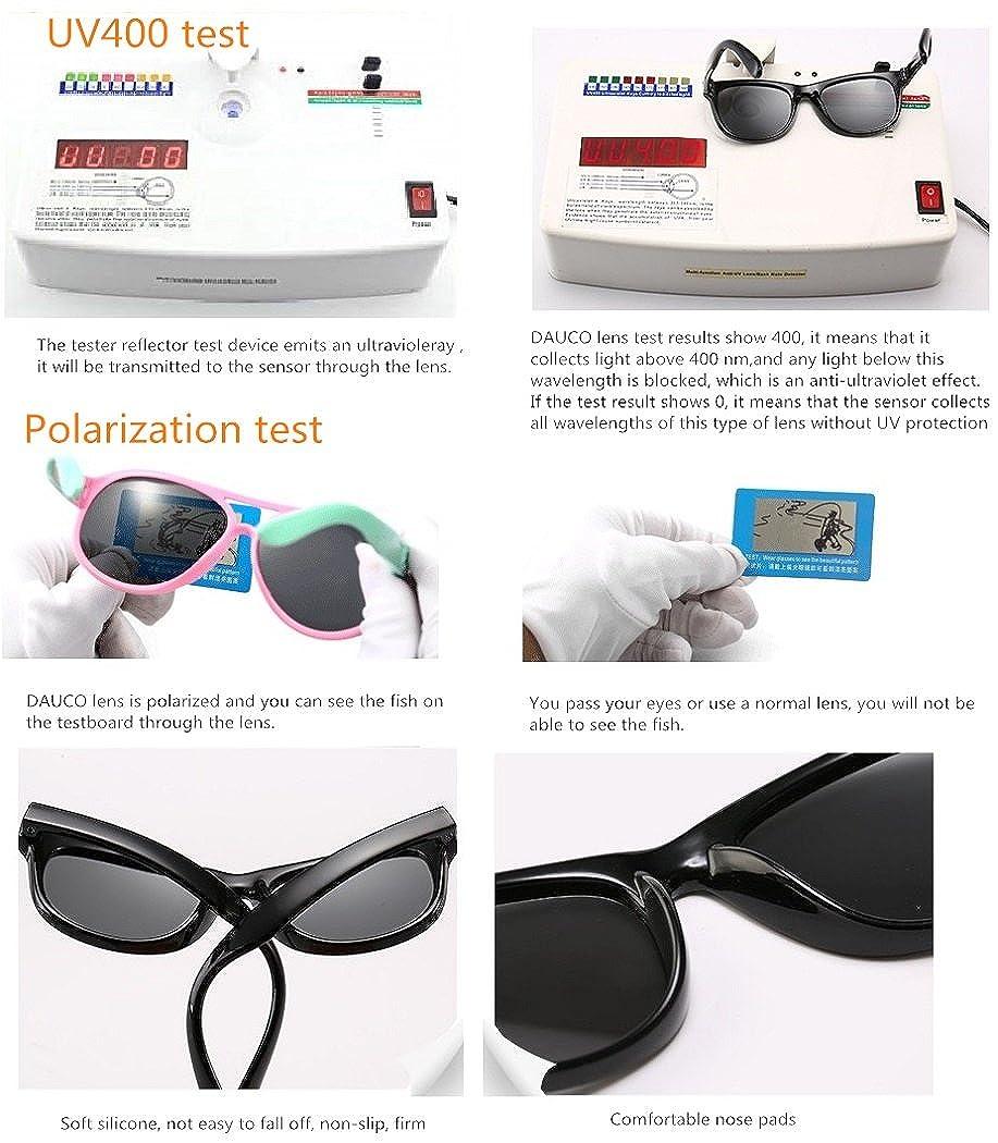 Gafas de sol polarizadas para niños Wrap Sport de DAUCO Chasis de goma flexible con bandas antideslizantes para niñas de 3 a 6 años-YYCF: Amazon.es: Ropa y ...