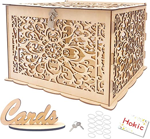 DIY White Wedding Card Box Post Box with Lock PVC Gift Box Bridal Shower Decor