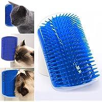 QuiCi Pet Cats Self Groomer Brush Wall Corner Cat Massage Comb Grooming Brush Toy with Catnip