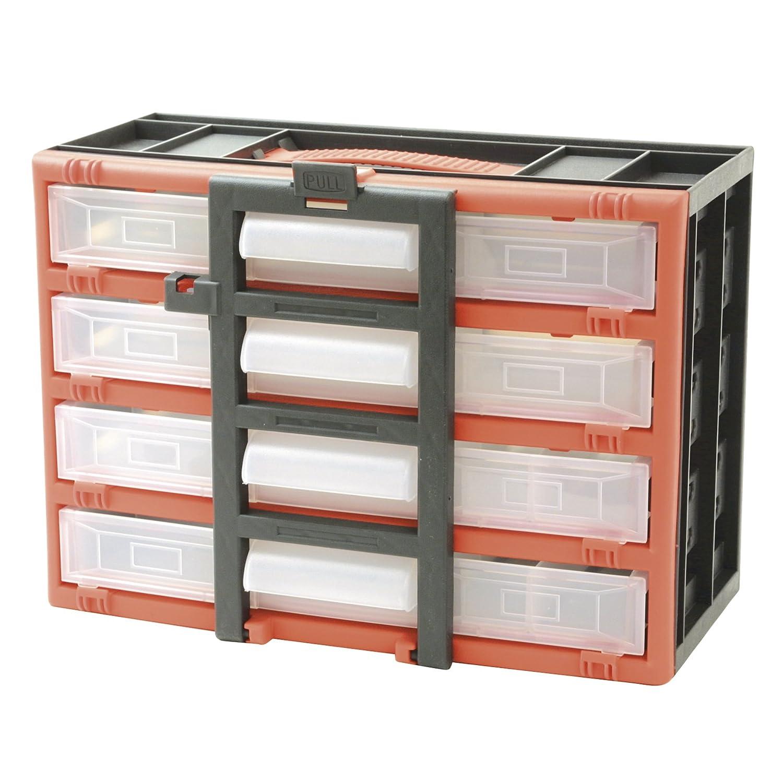 Cogex 72070 Casier de rangement en plastique 4 tiroirs