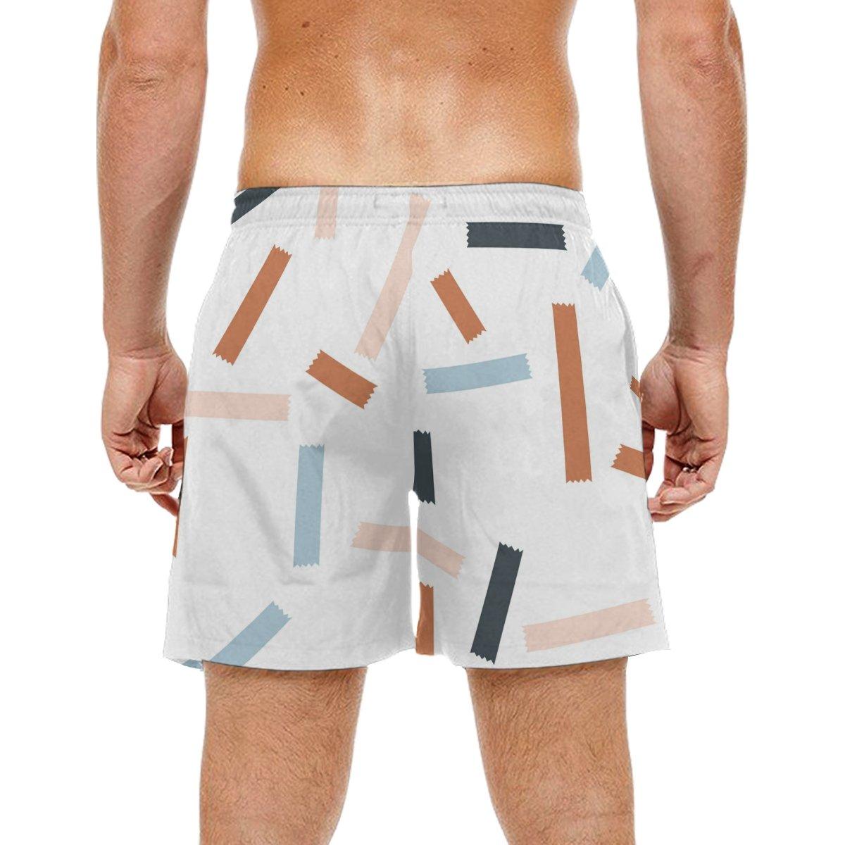 LORVIES Mens Pattern Beach Board Shorts Quick Dry Swim Trunk