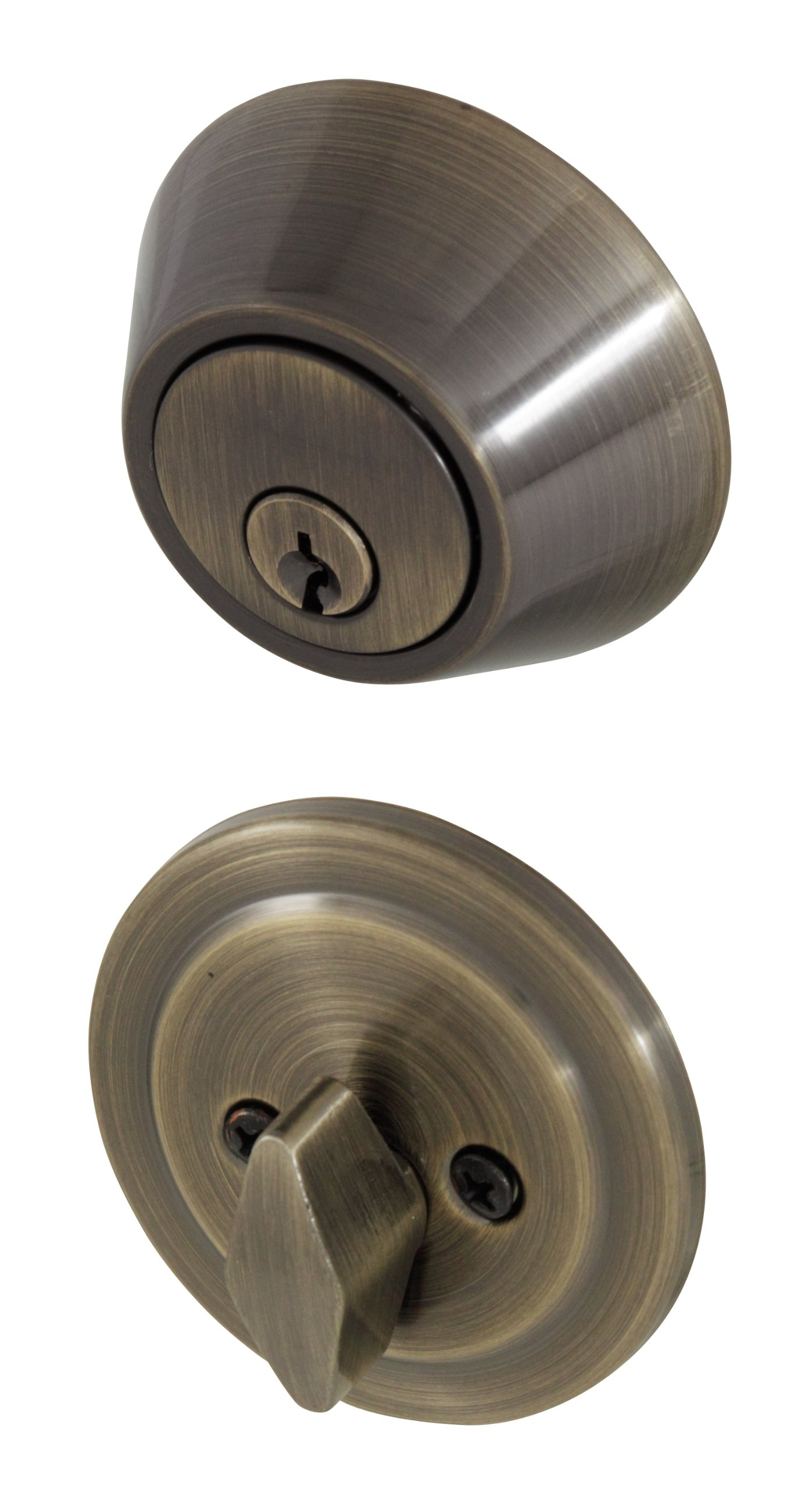 Honeywell 8111109 Single Cylinder Deadbolt, Antique Brass