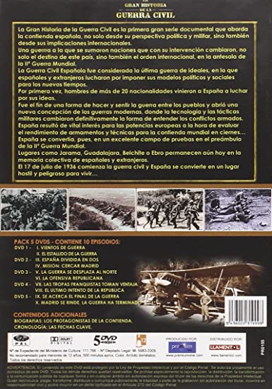 Gran Historia Guerra Civil Dvd Amazon Es No Consta Cine Y Series Tv