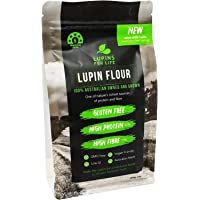 Gluten Free Lupin Flour by Lupins For Life - Natural Vegan Plant Protein, Fibre Rich, Low Carb - Australian Made & Owned (2 X 400g)