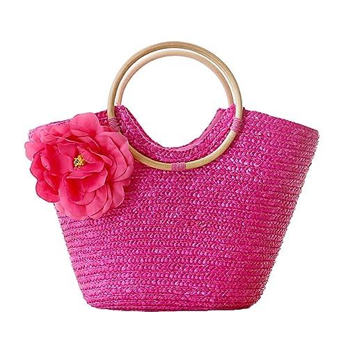 Amazon.com: Bolso tela color rosa con flores: Shoes