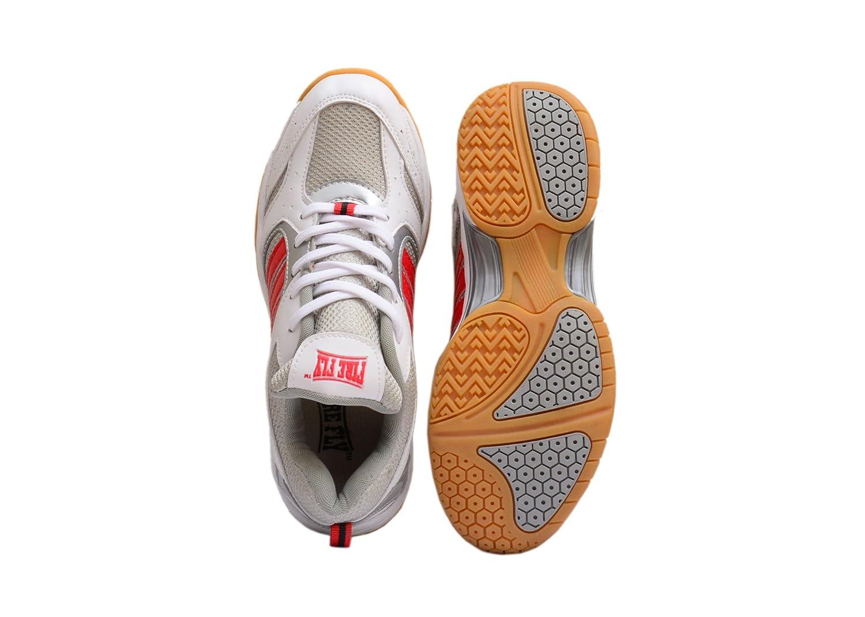 3M Chaussures de Badminton pour Homme Blanc/Orange
