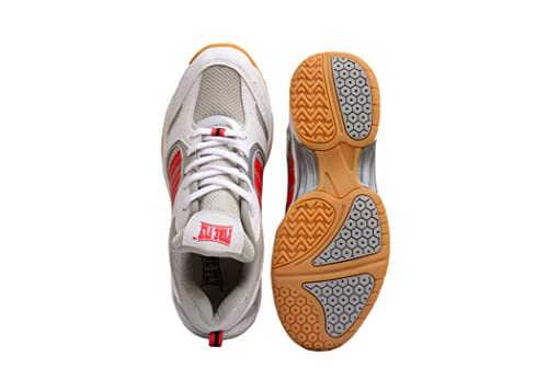 Men/'s Badminton Shoes FIRE FLY EXCEL White Red Tennis Outdoor Sports Racquet