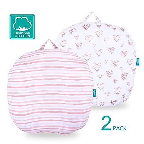 Amazon.com: Juego de 2 fundas de almohada para recién nacido ...