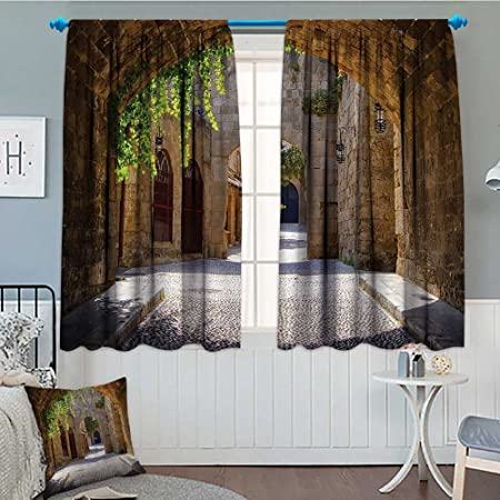 Tuscan Decor Collection Thermal Room Darkening Window Curtains