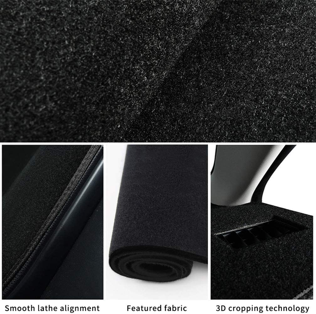 WANLING Dashboard Cover Custom for Nissan D22 Dash Cover DashMat Black Thread