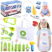 Joyjoz Kids Doctor Kit with Electronic Stethoscope, Pretend Play Medical Kit Set...