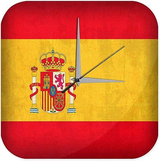 Reloj De Pared Aventurero Decoración bandera de España Plexiglas ...