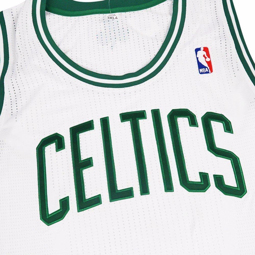c11e9e2cb205 Amazon.com   adidas Boston Celtics NBA White Official Authentic On-Court  Revolution 30 Home Jersey for Men (3XLT)   Sports   Outdoors
