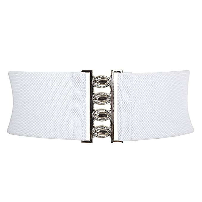 Vintage Wide Belts, Cinch Belts GRACE KARIN Women Wide Metal Stretch Elastic Waist Belt (Multicolor) $7.99 AT vintagedancer.com