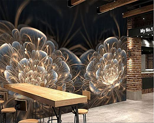 Malilove Papel Tapiz 3D Interiores Flor Deslumbrante Escritorio ...