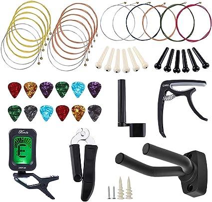 Kit de accesorios para guitarra, 47 piezas, herramienta para ...