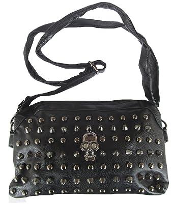 301eac3dad078 Rockabilly Punk Rock Baby Tasche Schwarz Black Skull Totenkopf Handtasche  Bag