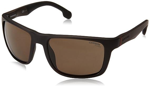 d3843aa7d9a Amazon.com  Carrera Men s 8027 s Rectangular Sunglasses BLACK 57 mm   Clothing