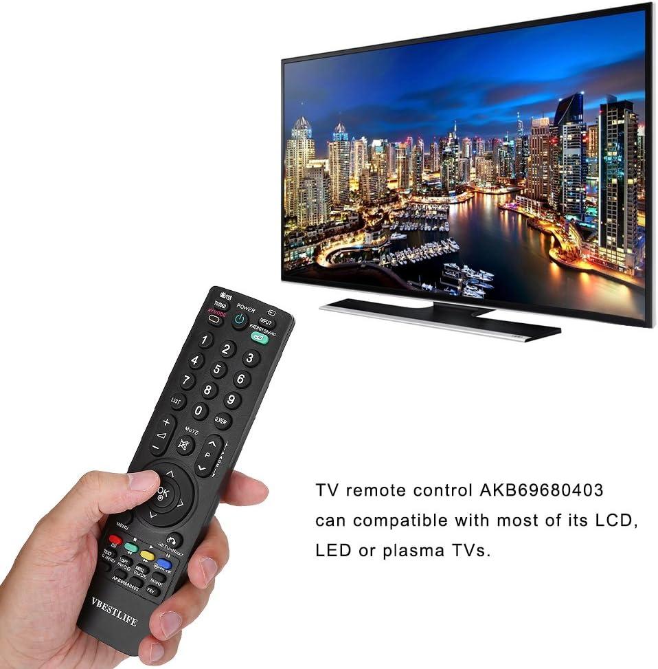 FOSA Mando a Distancia Universal VBESTLIFE para TV, Control Remoto de Reemplazo para la Mayoría TV LCD, LED o Plasma: Amazon.es: Electrónica