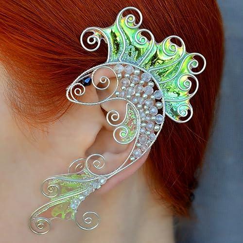 Amazoncom Fish Wire Earrings Ear Cuffs Sea Marine Treasure Fish