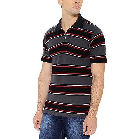 nick&jess Herren Blusen Poloshirt, Gestreift grau grau: Amazon.de:  Bekleidung